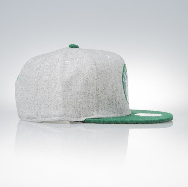 Mitchell & Ness snapback cap Boston Celtics grey heather / green Melange Flannel EU912