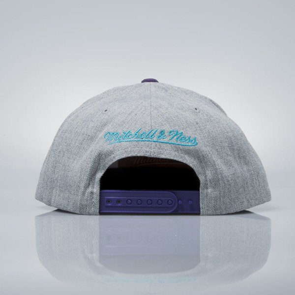Mitchell & Ness snapback cap Charlotte Hornets grey heather / purple VO60Z HEATHER MICRO