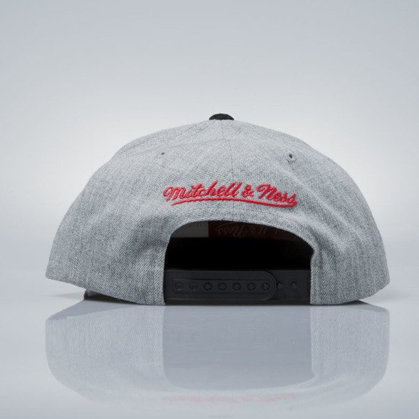 Mitchell & Ness snapback cap Chicago Blackhawks grey heather / black VO61Z HEATHER MICRO