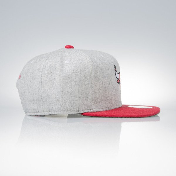 Mitchell & Ness snapback cap Chicago Bulls grey heather / red Melange Flannel EU912