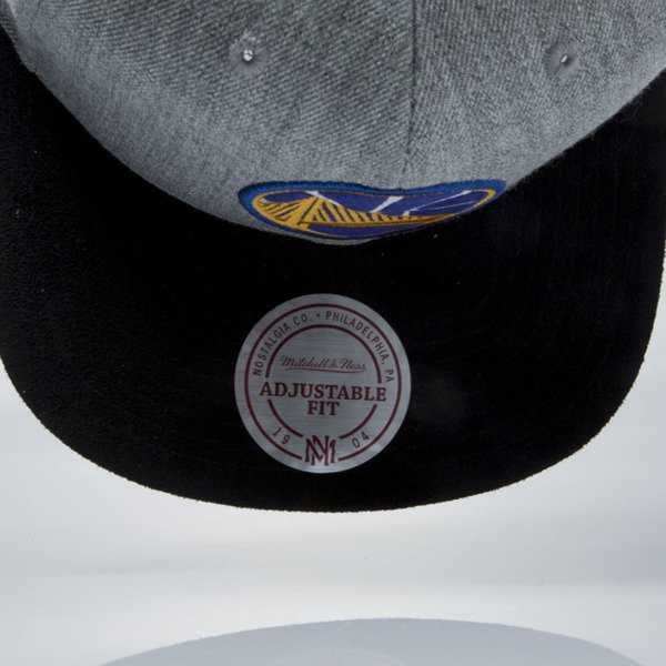 Mitchell & Ness snapback cap Golden State Warriors grey heather / blue VO59Z HEATHER MICRO