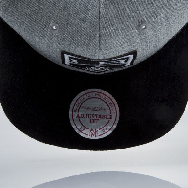 Mitchell & Ness snapback cap Los Angeles Kings grey heather / black VO61Z HEATHER MICRO