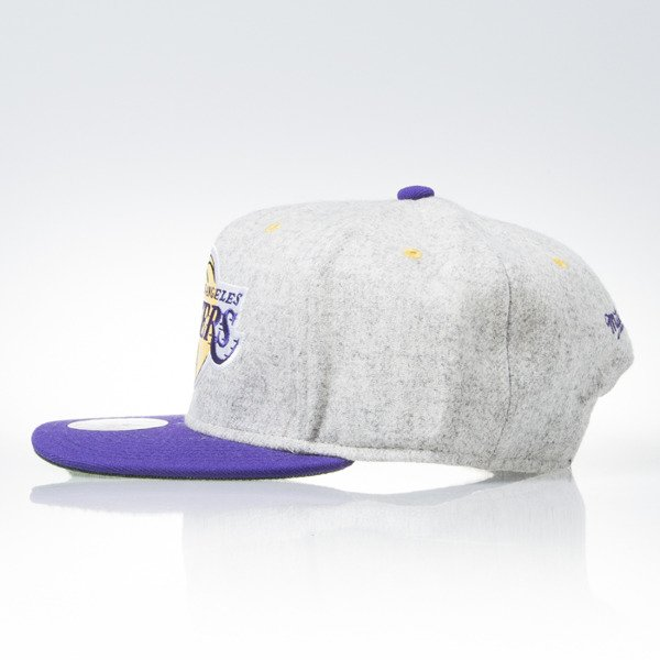 Mitchell & Ness snapback cap Los Angeles Lakers grey heather / purple Melange Flannel EU912
