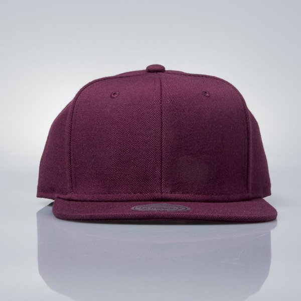Mitchell & Ness snapback cap M&N burgundy EU930 SOLID COLOUR BLANK