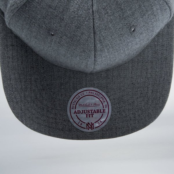 Mitchell & Ness snapback cap M&N grey heather EU930 SOLID COLOUR BLANK
