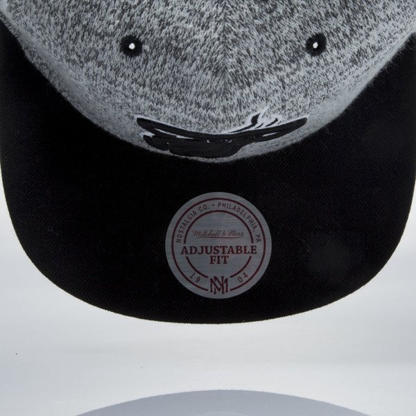 Mitchell & Ness snapback cap Miami Heat grey heather / black EU957 GREY DUSTER