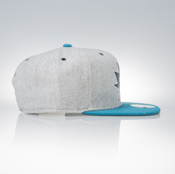Mitchell & Ness snapback cap San Jose Sharks grey heather / teal Melange Flannel EU912