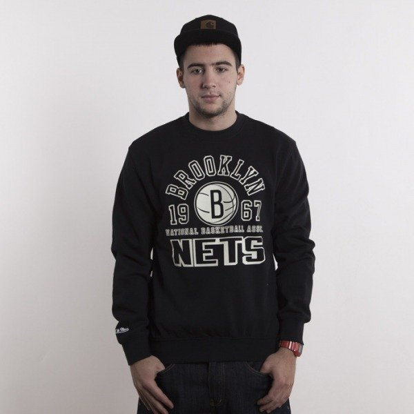 Mitchell & Ness sweatshirt Brooklyn Nets black crewneck Team Established