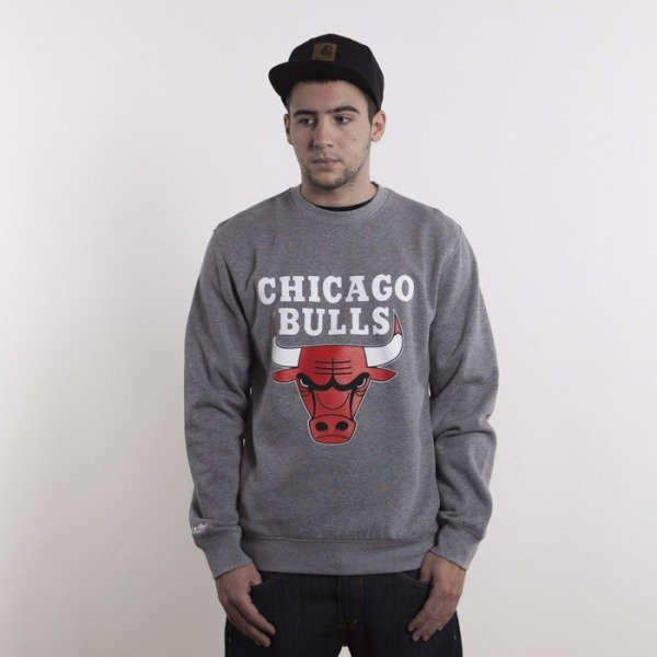 Mitchell & Ness sweatshirt Chicago Bulls heater grey Team Logo