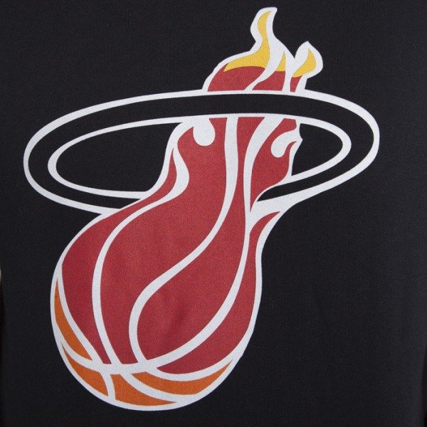 Mitchell & Ness sweatshirt Miami Heat black hoody Team Logo