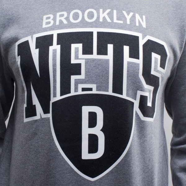 Mitchell & Ness sweatshirt crewneck  Brooklyn Nets grey hether Team Arch (MN-1-TMARCHCREW-BROO-GRH)