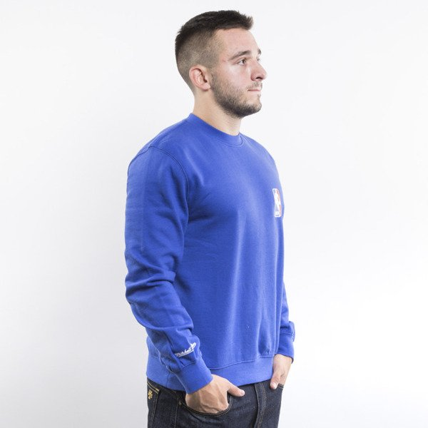 Mitchell & Ness sweatshirt crewneck NBA Logoman royal Team Logo