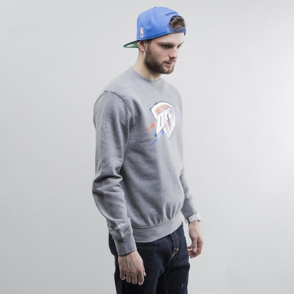 Mitchell & Ness sweatshirt crewneck Oklahoma City Thunder heather grey Team Logo