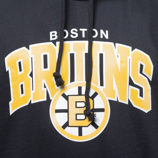 Mitchell & Ness sweatshirt hoody Boston Bruins hoody black TEAM ARCH
