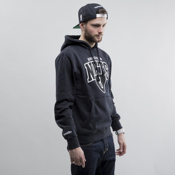 Mitchell & Ness sweatshirt hoody Brooklyn Nets black Team Arch