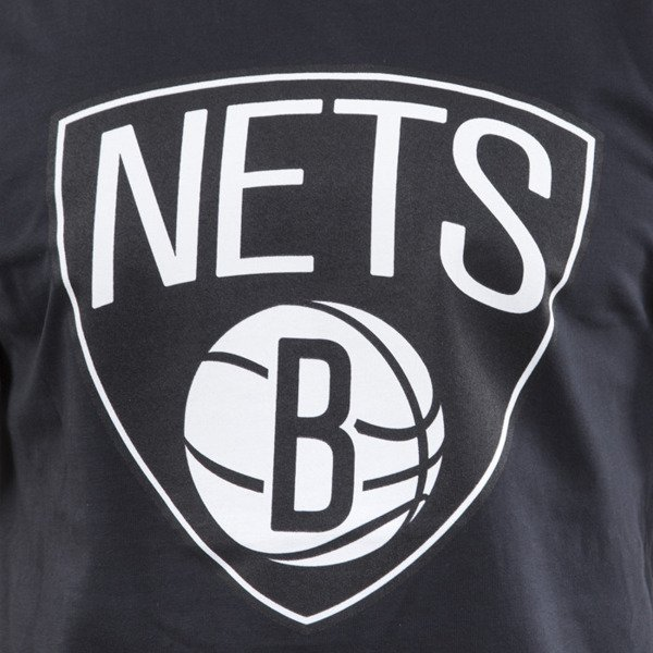 Mitchell & Ness t-shirt  Brooklyn Nets black Black and White Logo Traditional