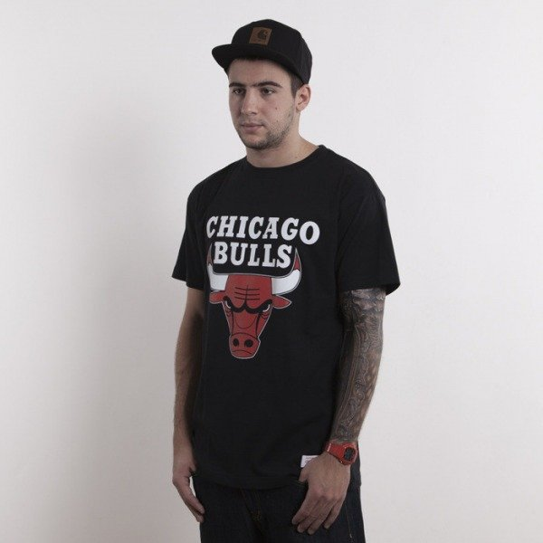 Mitchell & Ness t-shirt Chicago Bulls black Team Logo