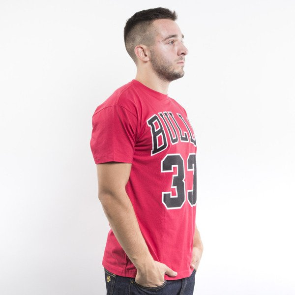 Mitchell & Ness t-shirt  Chicago Bulls red Player Name & Number Traditional