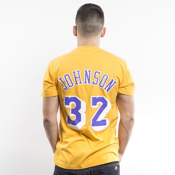 Mitchell & Ness t-shirt  Los Angeles Lakers yellow Player Name & Number Traditional