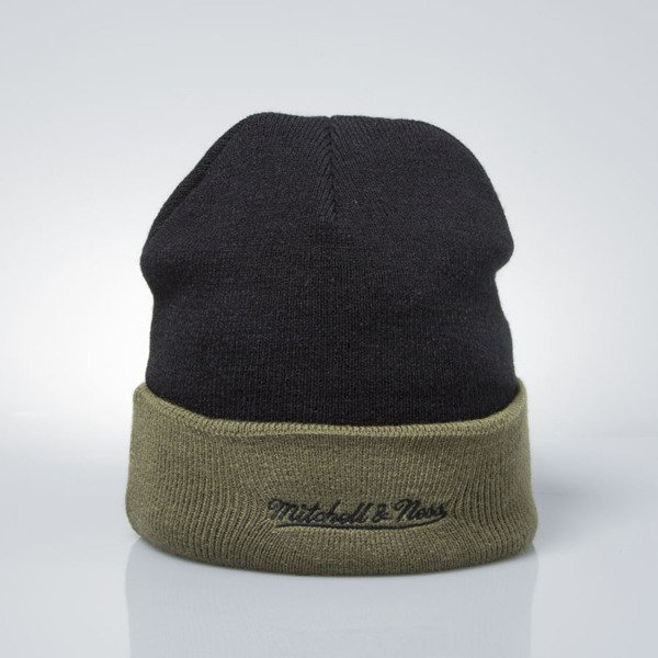 Mitchell & Ness winter baenie Chicago Blackhawks black / olive EU349 ARCHED CUFF KNIT