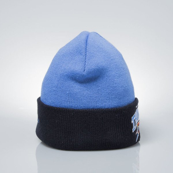 Mitchell & Ness winter baenie Oklahoma City Thunder blue / navy EU349 ARCHED CUFF KNIT