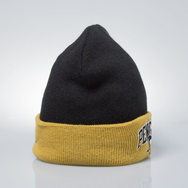 Mitchell & Ness winter baenie Pittsburgh Penguins black / stone EU349 ARCHED CUFF KNIT