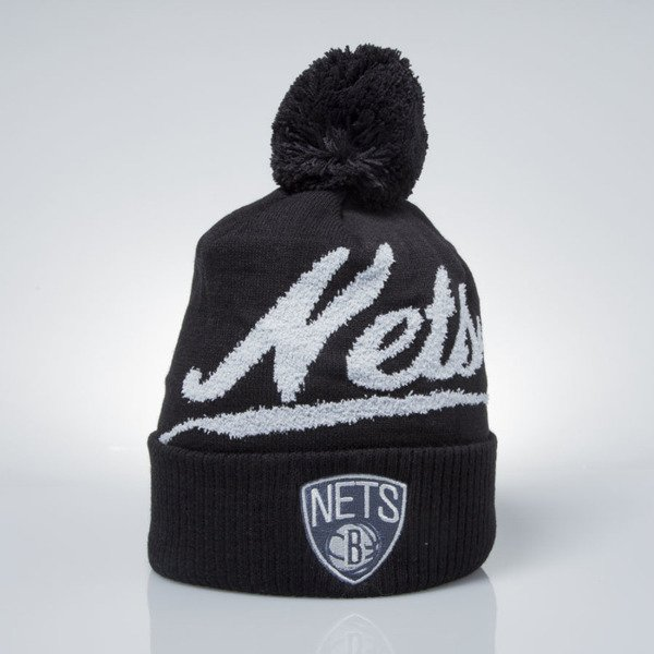 Mitchell & Ness winter beanie Brooklyn Nets black KV97Z GREYTON SCRIPT POM BEANIE