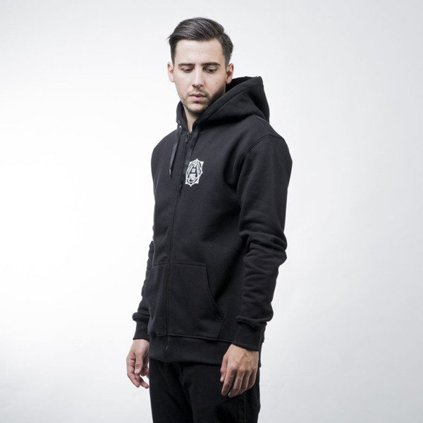 Nervous sweatshirt Pyramid hoody zip black
