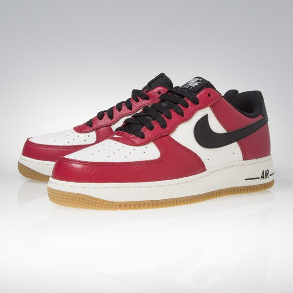 Nike Air Force 1 gym red / black gum light brown 820266-600