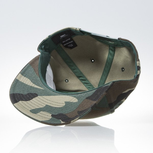 Obey Downtown Snapback field camo