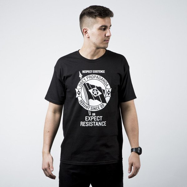 Obey Respect Existence Tee black