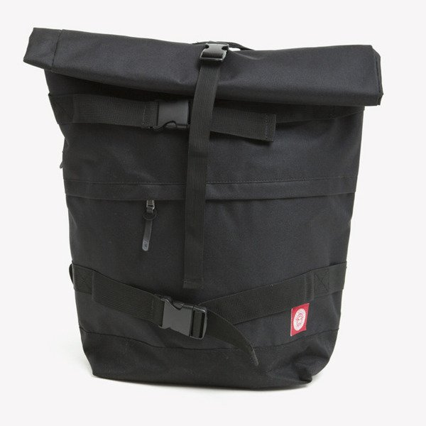 Obey Revolt Red Rolltop bag black