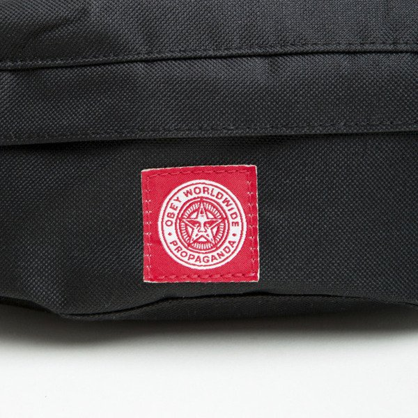 Obey Revolt Red Sling Bag black