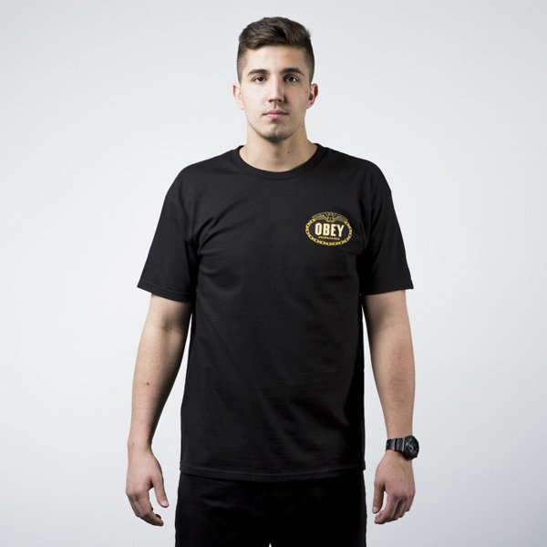 Obey T-Shirt With Glory Back Print black
