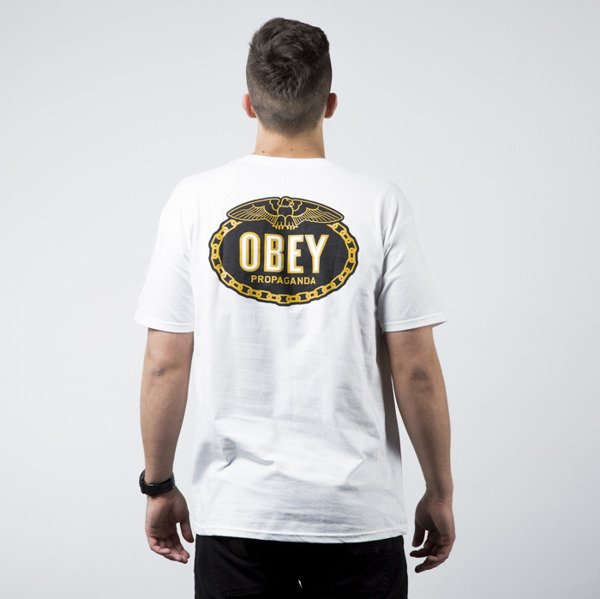 Obey T-Shirt With Glory Back Print white