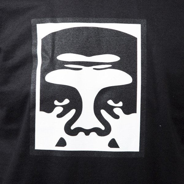 Obey T-shirt Half Face Icon black