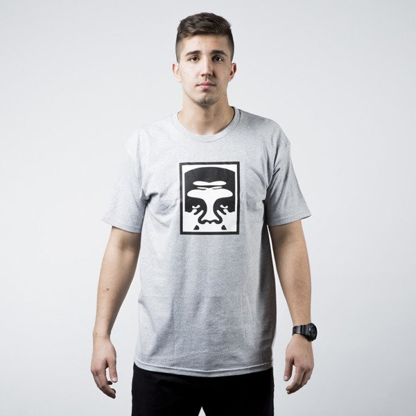 Obey T-shirt Half Face Icon heather grey
