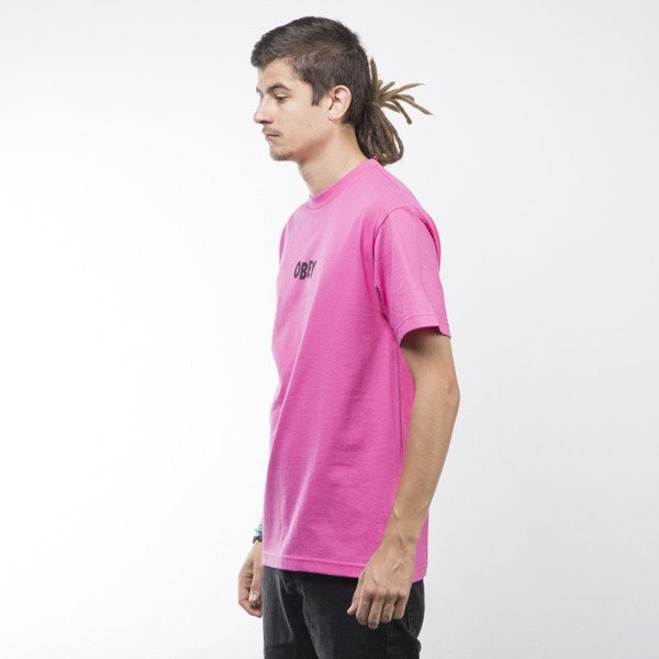 Obey T-shirt Jumbled hot pink