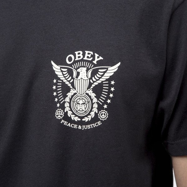 Obey T-shirt Peace & Justice Eagle black