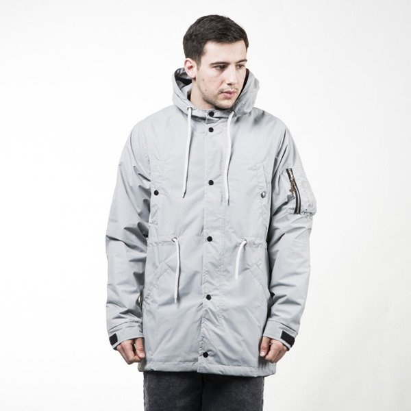 Phenotype Lightgray Fishtail Parka light grey