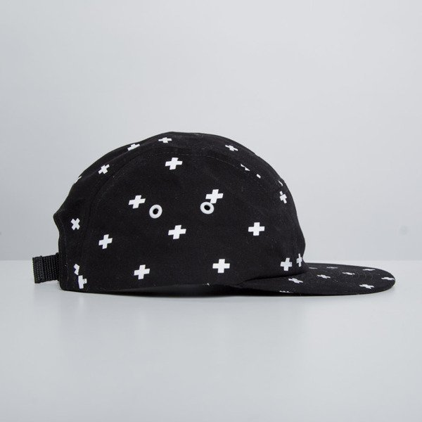Prosto KLASYK  5Panel Logo Cap black / white