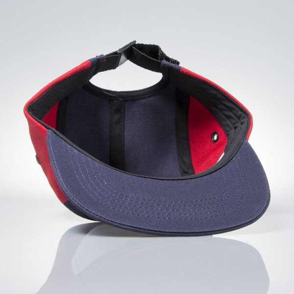 Prosto Klasyk 5panel Fatcap Divide navy / red / white