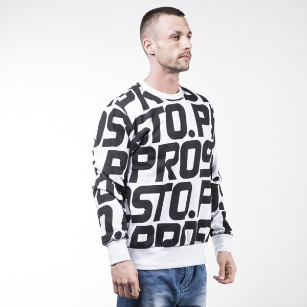 Prosto Modest Print white / black