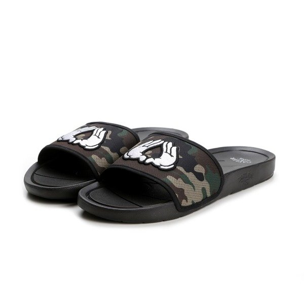 Sandals Cayler&Sons Brooklyn black / woodland / white