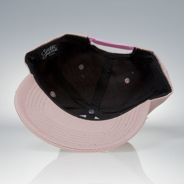 Sixth June snapback Destroy cap pink