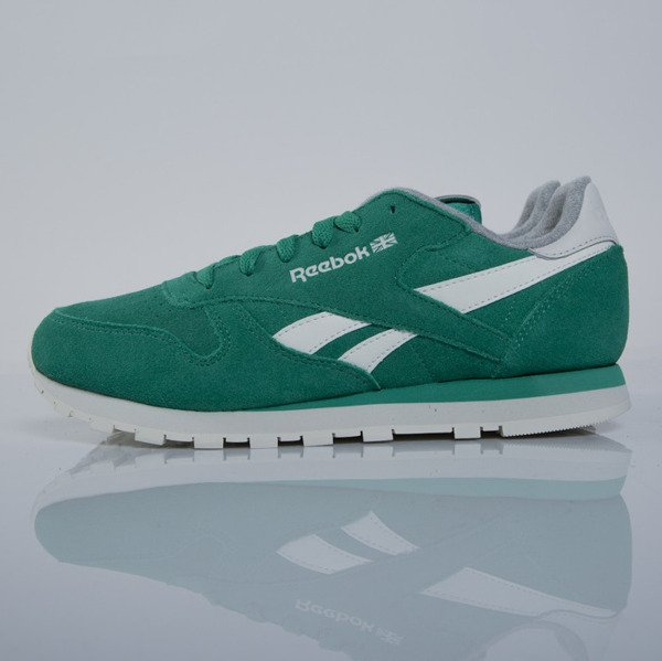 Sneakers Reebok Classic CL Leather Suede green / chalk M49099