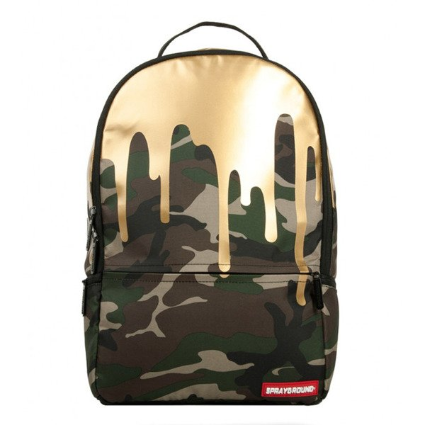 Sprayground backpack Camo Gold Drips camo / gold