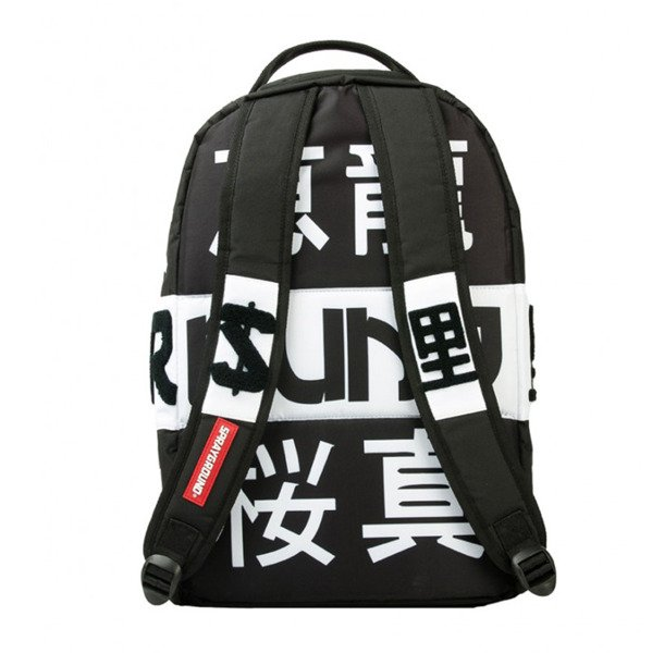 Sprayground backpack Spray Japan black / white