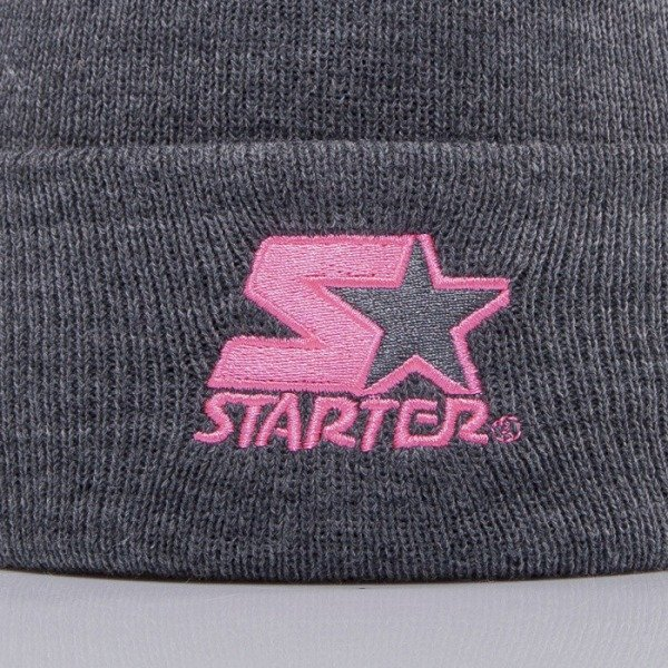 Starter beanie Brnd Mark Knit grey/pink ST477