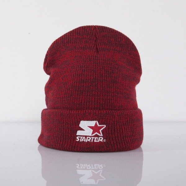 Starter beanie Mark Knit red heather ST422